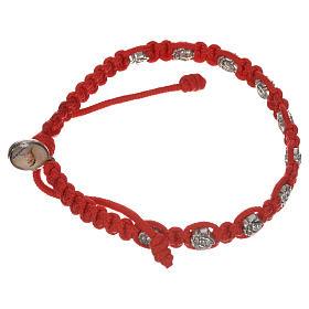 Bracelet dizainier sur corde et petites roses s6