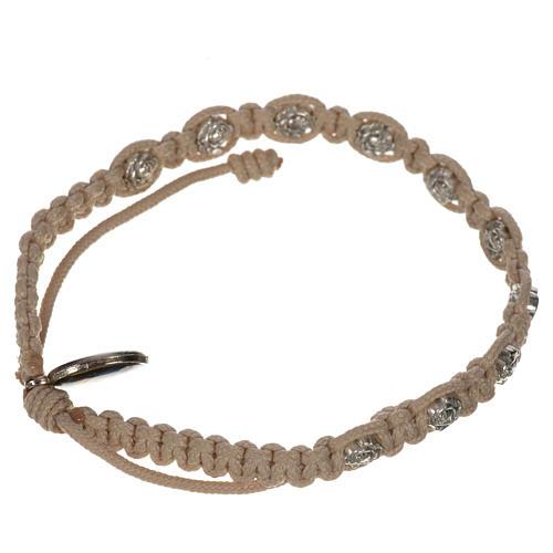 Bracelet dizainier sur corde et petites roses 10