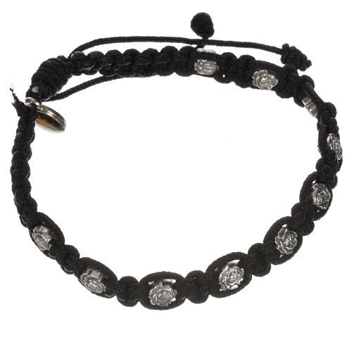 Bracelet dizainier sur corde et petites roses 11