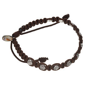Bracelet in cord with roses, single-decade s3