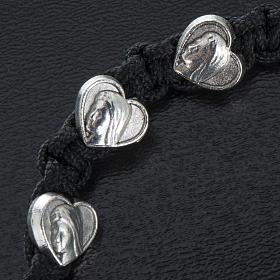 Bracelet dizainier sur corde et médailles coeur s2