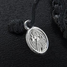 Bracelet dizainier sur corde et médailles coeur s3