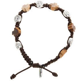 Bracelets, dizainiers: Bracelet dizainier croix et médailles St Benoit