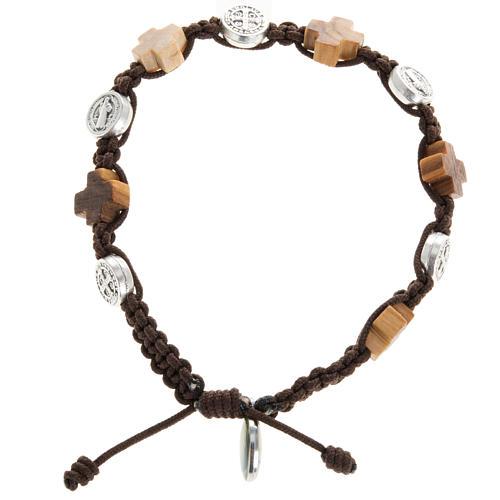 Bracelet dizainier croix et médailles St Benoit 1