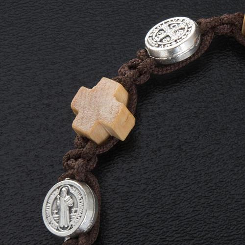Bracelet dizainier croix et médailles St Benoit 2