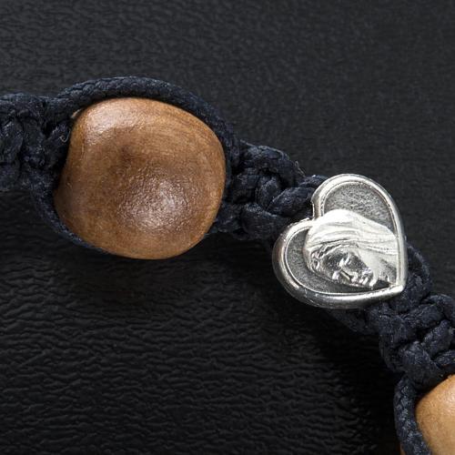 Bracelet dizainier bois d'olivier coeurs Medjugorje 3