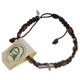 Bracciale croce, cuori grani olivo s15