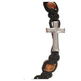 Bracciale croce, cuori grani olivo s9