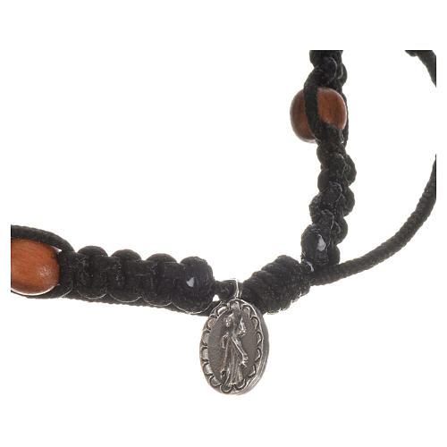 Bracelet with cross, hearts and olive wood grains 8
