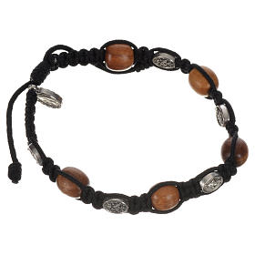 Bracelet in olive with Miraculous Medals s8