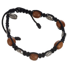 Bracelet in olive with Miraculous Medals s10