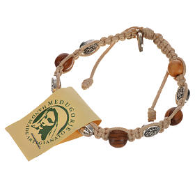 Bracelet in olive with Miraculous Medals s12