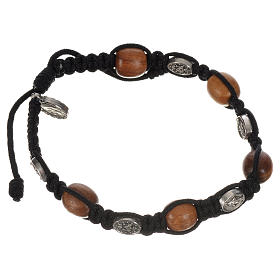 Bracelet in olive with Miraculous Medals s2