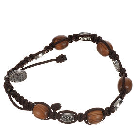 Bracelet in olive with Miraculous Medals s5