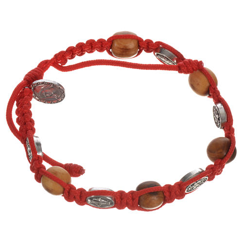 Bracelet in olive with Miraculous Medals 9