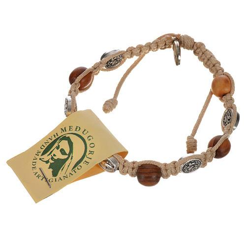 Bracelet dizainier bois olivier médaille Miraculeuse 6