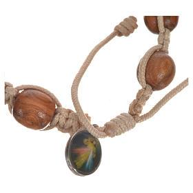 Bracelet dizainier bois d'olivier avec tau s12