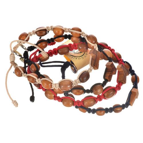 Bracelet dizainier bois d'olivier avec tau 9