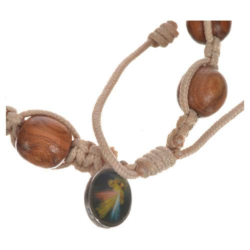 Bracelet dizainier bois d'olivier avec tau 12