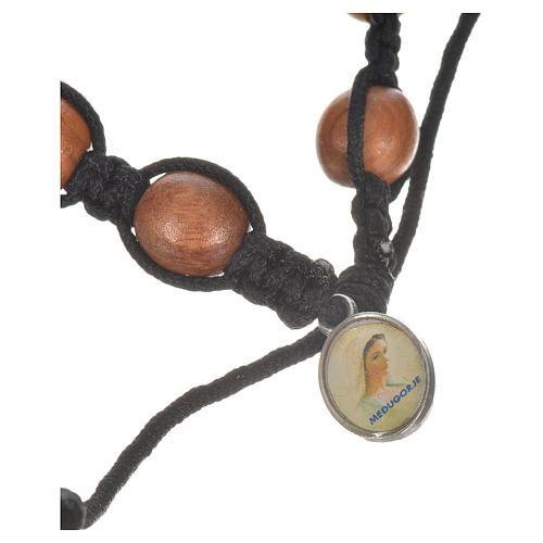Bracelet dizainier bois d'olivier avec tau 3