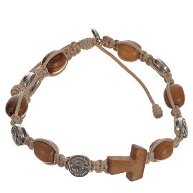 Tau cross bracelet with medals s10