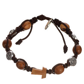 Tau cross bracelet with medals s11