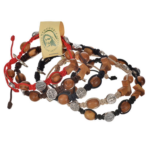 Tau cross bracelet with medals 7