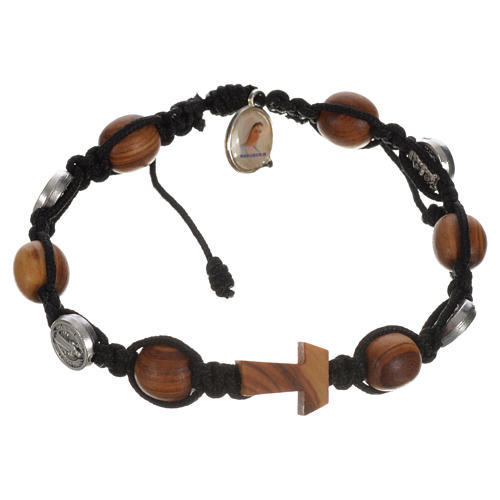 Tau cross bracelet with medals 8
