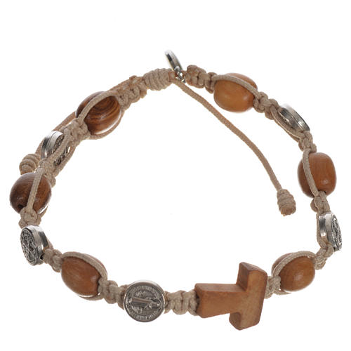 Tau cross bracelet with medals 10