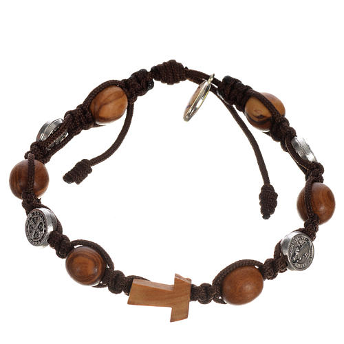 Tau cross bracelet with medals 5