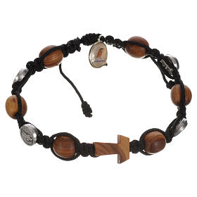 Tau cross bracelet with medals s8