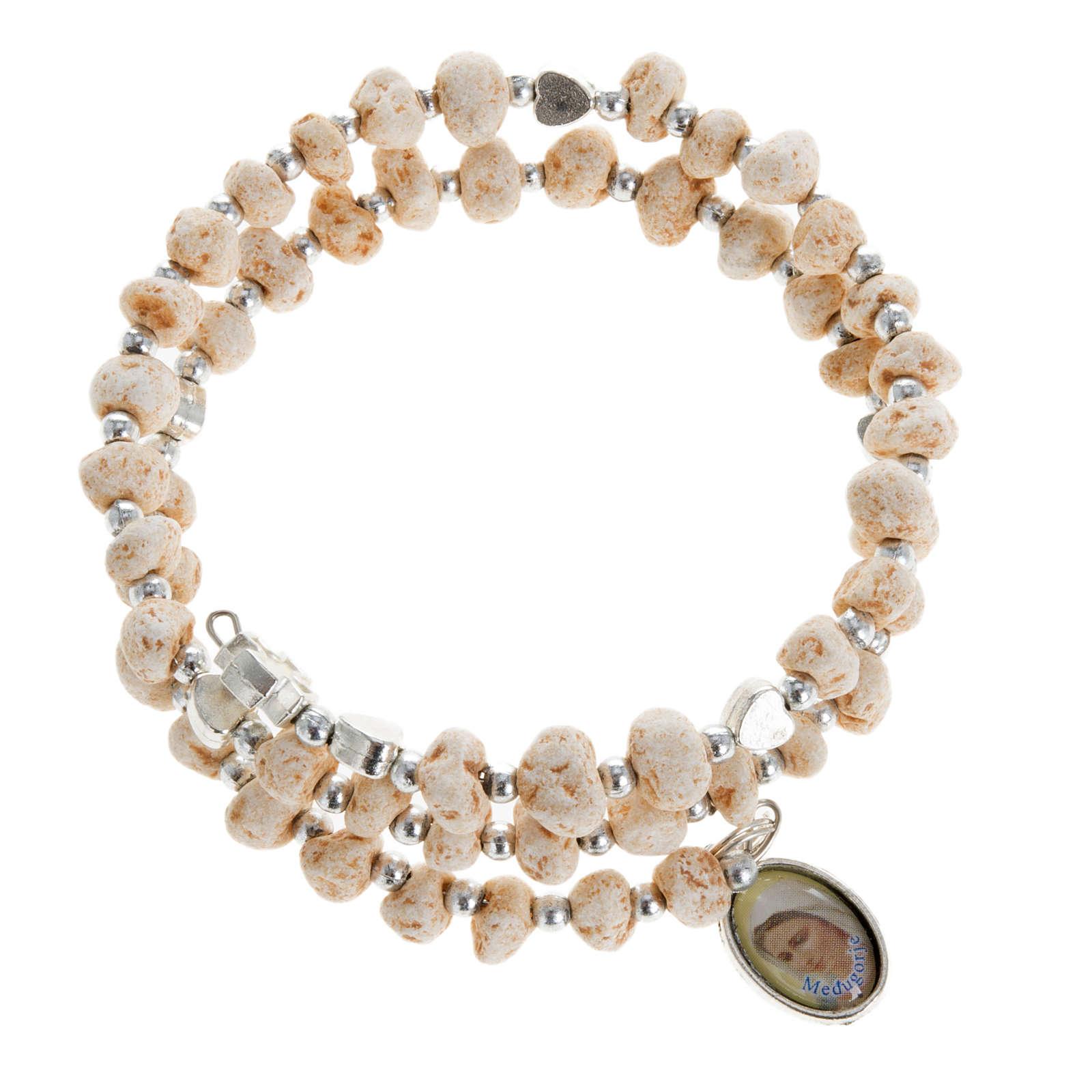 Bracelet with spring in dark stone 4