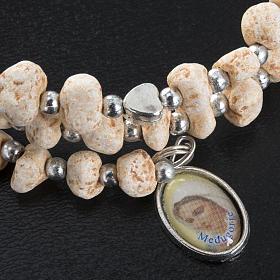 Bracelet with spring in dark stone s3