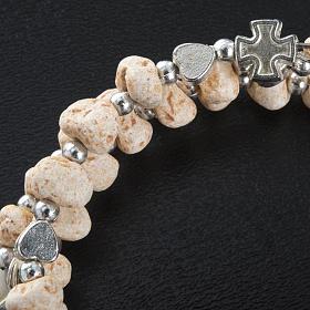 Bracelet with spring in dark stone s4