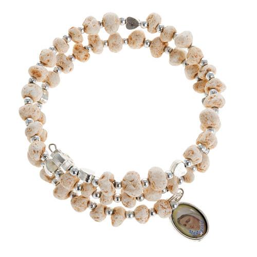Bracelet with spring in dark stone 1
