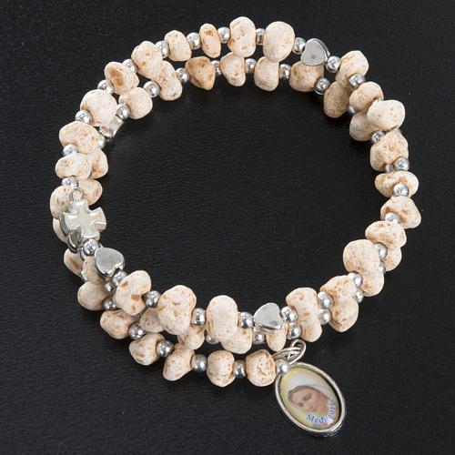 Bracelet with spring in dark stone 2