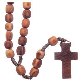 Różaniec Medjugorje drewno oliwne 7x8 mm s1