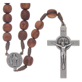 Medjugorje rosary beads with metal crucifix 7mm s1