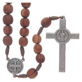 Medjugorje rosary beads with metal crucifix 7mm s2