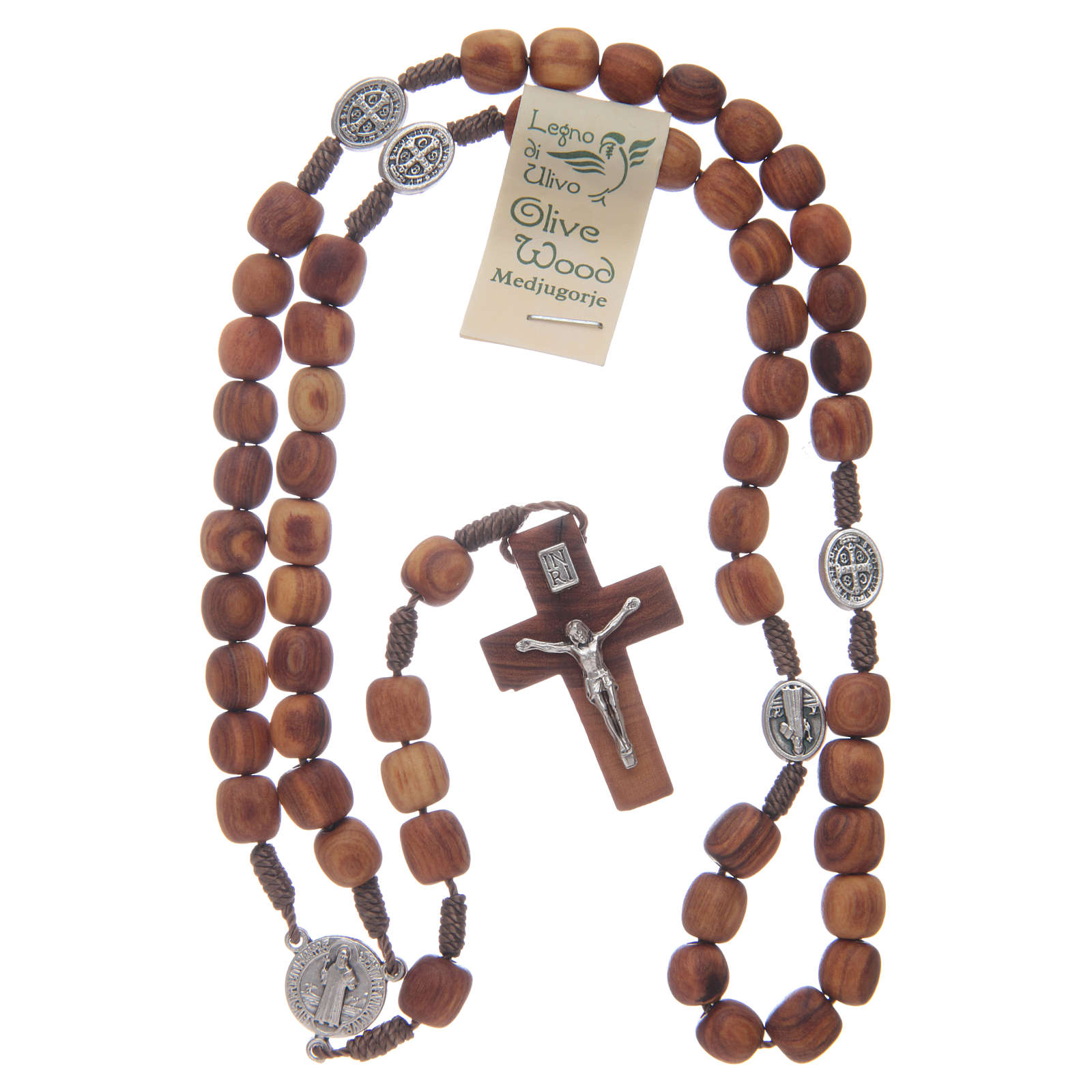 Olive wood Medjugorje rosary with cross 9mm 4
