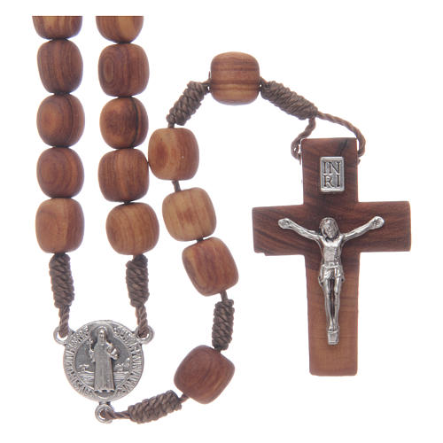 Olive wood Medjugorje rosary with cross 9mm 1