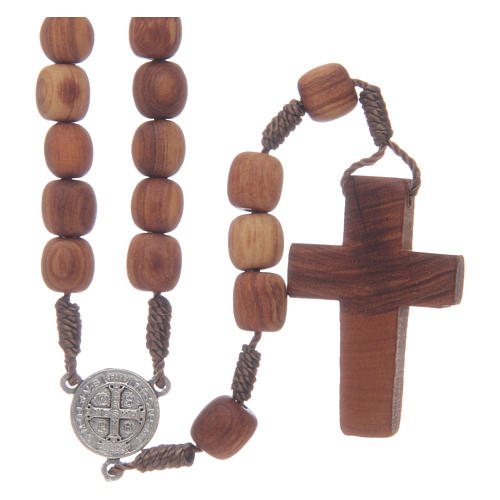 Olive wood Medjugorje rosary with cross 9mm 2
