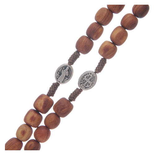 Olive wood Medjugorje rosary with cross 9mm 3