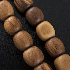 Olive wood rosary with Saint Benedict medal s4