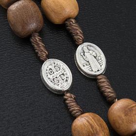 Różaniec drewno oliwne medalik Św. Benedykta s3