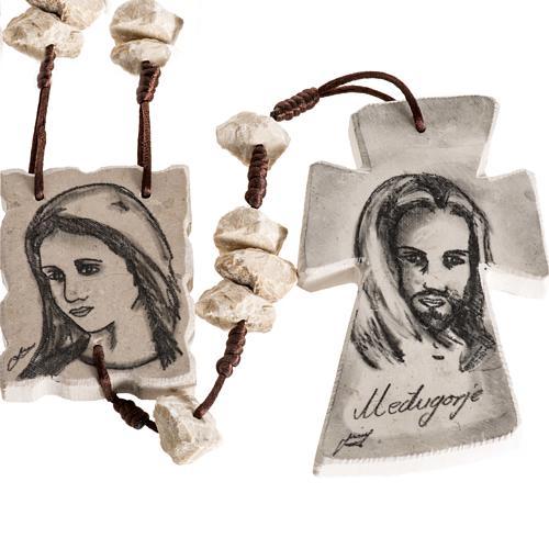 Rosario de pared Maria y Jesús 1