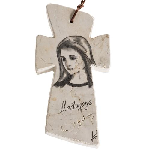 Croce pietra con volto Maria 1