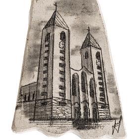 Croix pierre visage Vierge Marie et église Medjugorje s3