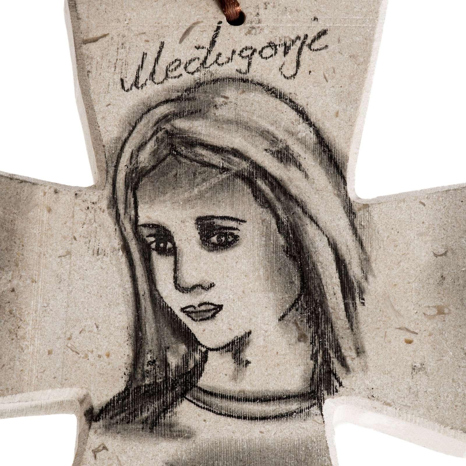 Croce  volto Maria e Chiesa di medjugorje 4