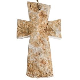 Cross in Medjugorje red stone 20x12cm s1